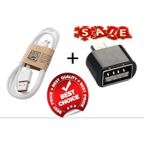 Bumper Deal Offer - Combo of Micro USB Data Cable + OTG Adaptor