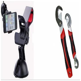 Buy New Fly Mobile Stand Car Universal Holder With Free Snap N Grip Multipurpose Wrench - FLYMSNG