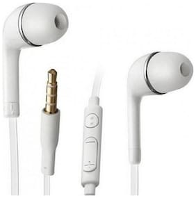 CADNUT HIGH QUALITY FOR SAMSUNG GALAXY A5 YR EARPHONE WITH MIC 3.5MM JACK (WHITE)