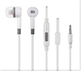 CADNUT xiomi white earphone with mic and volume button