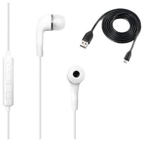 cadnut yr white earphone with high speed data sync charging usb cable