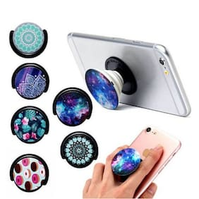 Callmate Mobile Holder With Car Mount Pop Socket - (Assorted Color)