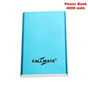 Callmate PBPUMI4000BL 4000 mAh Power Bank (Blue)