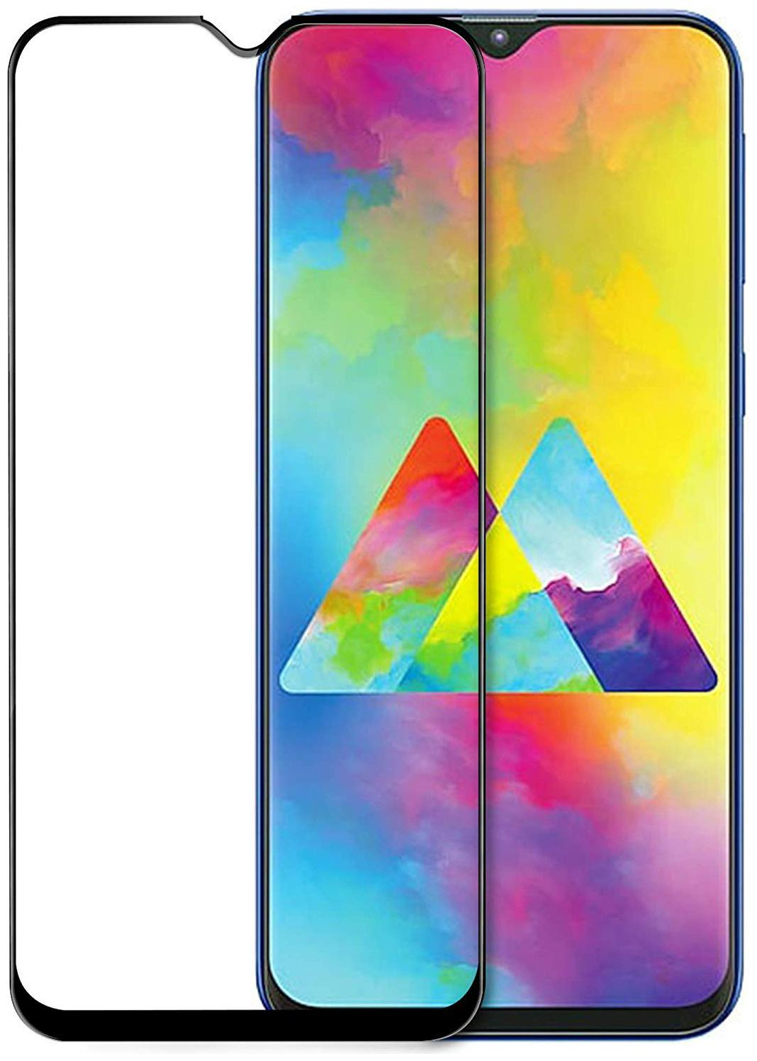 Capnicks Edge to Edge Curved Full Glue 11D Tempered Glass Screen Guard for Samsung Galaxy M20 (Black)