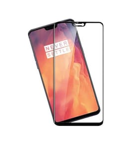CAPNICKS Edge To Edge Tempered Glass & Screen Guard For Oneplus 6