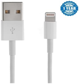Capnicks Iphone Data Sync & Charging Cable for Iphone 5, 5s, 5c, 6 , 6s, 6 Plus, 7, 7 Plus, iPods & Tablets (1 Year Warranty, Color May Vary)