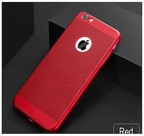 CAPNICKS Soft Silicone Dotted With Anti Dust Plugs Ultra thin Slim Back Cover Case For Apple iPhone 6/6S - Red
