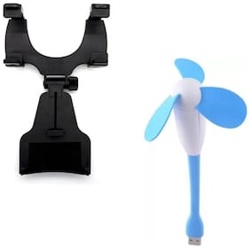Captcha 360 Degree Rotation Car Holder/Stand With Portable Dragonfly Design Mini USB Fan For Laptop/ Desktop/ Power Bank Other Combos Multi