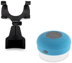 Captcha 360 Degree Rotation Car Holder/Stand With Portable Water Resistant Bluetooth 3.0 Shower Speaker with Built-in Mic Other Combos Multi