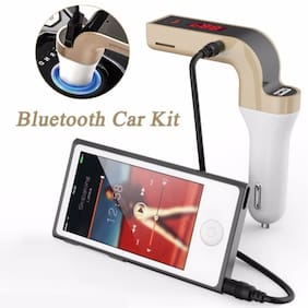 Car charger  All phone fast2.1 Amp Turbo Car Charger  (White, Gold)  Car Phone Charger/Bluetooth Kit