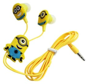 Cartoon 3.5mm In-ear Stereo Earphones(Yellow)