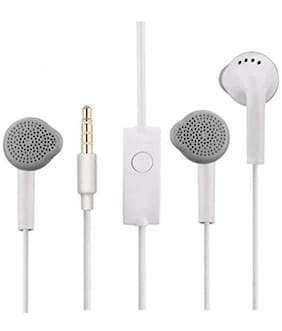 Cellshop Earphone for All Smart Phones 3.5mm Jack with Mic samsung In-Ear Wired Headphone ( White )