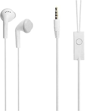 Cellshop Earphones with Microphone for All Smart Phone In-Ear Wired Headphone ( White )