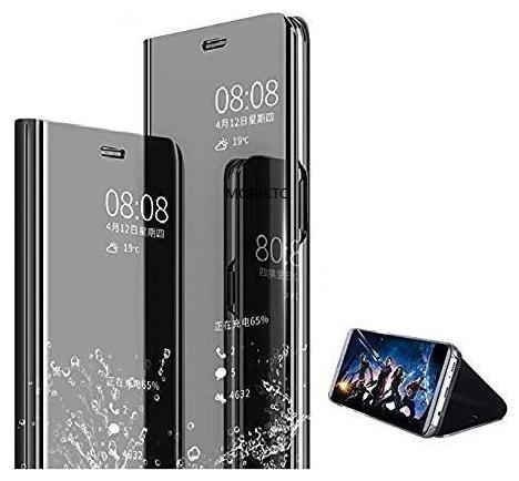 Cellshop Glass Flip Cover For Samsung Galaxy S7 Edge   Black