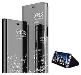 Cellshop Glass Flip Cover For Samsung Galaxy A70 ( Black )