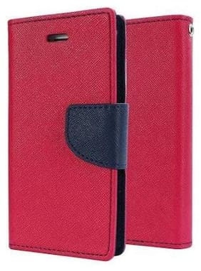 Cellshop Faux Leather Flip Cover For OnePlus 3 & OnePlus 3T ( Pink )