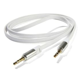 Celmate Aux Cable 3.5 Male To Male Auxillary Cable For Mobile/ Car Stereo/Iphone /Ipod/Mp3 (White)(Assorted colors)