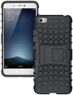CELZO Defender Hybrid Series Back Cover Case with Stand for ViVO Y71 - (Black)