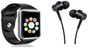 CHG Combo of Bluetooth Smart Watch and Earphone with Mic for All Android and iOS Phones