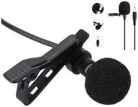 TSV  Lavalier Condenser Microphone with 20ft Audio Cable (Black)
