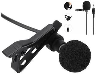 CHG Mini Collar Microphone with Clip for Chatting, Voice & Video Call for Laptop, PC