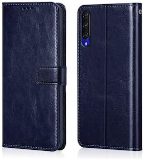 Vivo Y12s Faux Leather Flip Cover By CHL ( Blue )