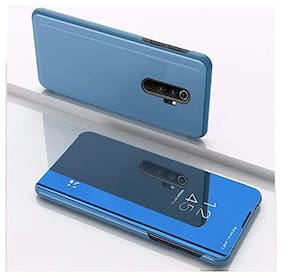 Redmi Note 8 Pro Polycarbonate Flip Cover By CHL ( Blue )