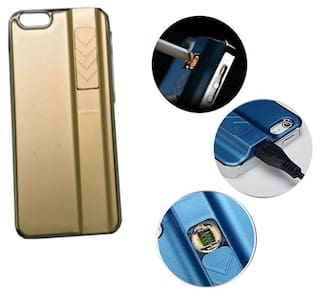 Cigarette Lighter Case for Apple Iphone Case 5 & 5s Golden