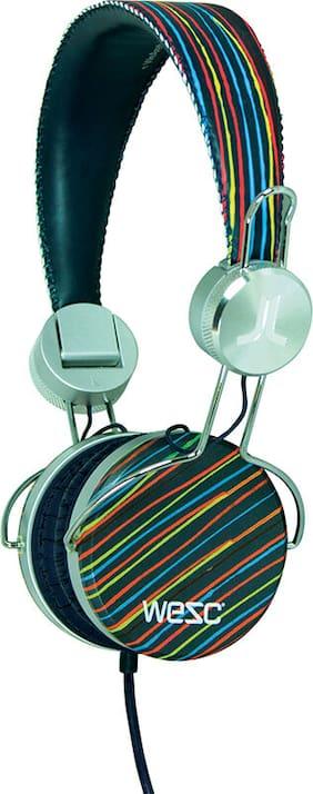 *CLEARANCE* WESC Banjar Ear-Pad (On the Ear) Headphones Blue (Jazz Stripe)