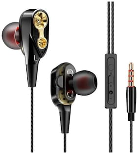 CLERBY 4D1 In-Ear Wired Headphone ( Black )