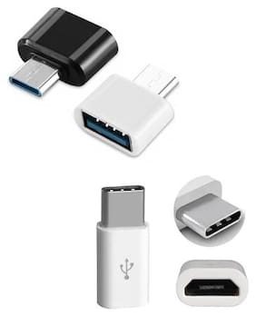 Combo Set Type C OTG with Free Type C Adapter for charging/transferring Data( pack of 2)