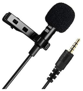 Cos theta 3.5mm Clip Microphone For Youtube, Collar Mike For Voice Recording, Lapel Mic Mobile, Pc, Laptop, Android Smartphones, Dslr Camera