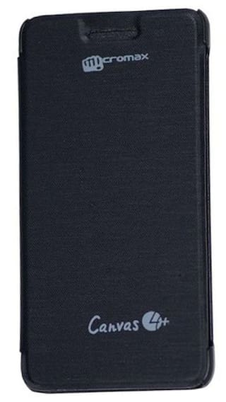 new styles 4e934 b0f9a Buy Coverage Flip Cover For Micromax Canvas 4 Plus A315 (Black ...
