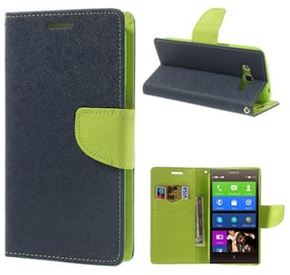 super popular 05efe 18470 Coverage Flip Cover For HTC Desire 820 dual sim (Blue & Green)