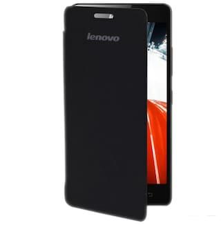 best service d80ff 62e8f Coverage Flip Cover For Lenovo A7000 Turbo (Black)