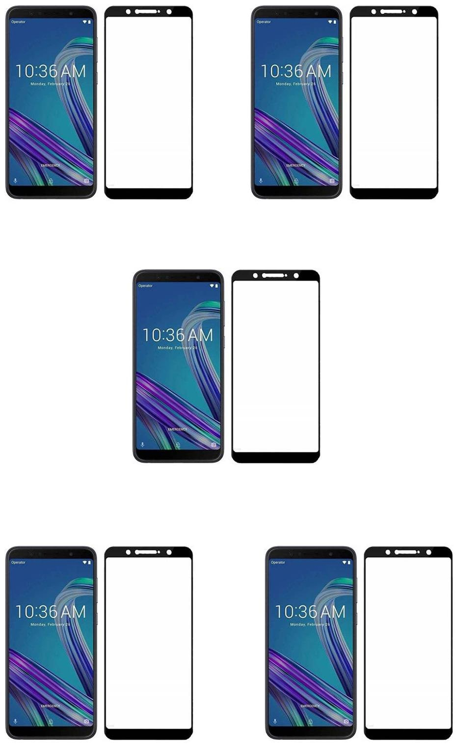 CRAVEMART TEMPERED GLASS FOR ASUS ZENFONE MAX PRO M1, 3D SCREEN GUARD  PACK OF 5