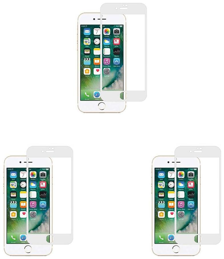 CRAVEMART TEMPERED GLASS FOR APPLE IPHONE 6 PLUS , 4D SCREEN GUARD  PACK OF 3
