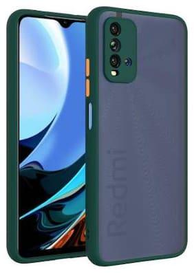 Redmi 9 Power Plastic Back Cover By CREATIVO ( Green )