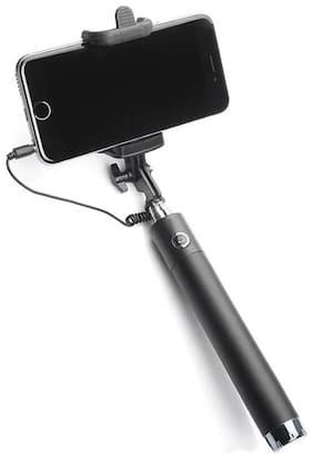 CREATIVO Cable Selfie Stick  (Black)