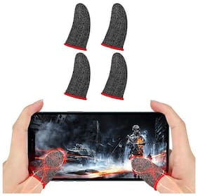 Crozier Finger Sleeves for Mobile Gaming for PUBG, Free Fire Multicolour 2 Pair(2 Packets)