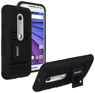 sports shoes f32d1 2eb83 Buy Crust Back Cover Case With Stand For Motorola Moto G (3rd Gen ...