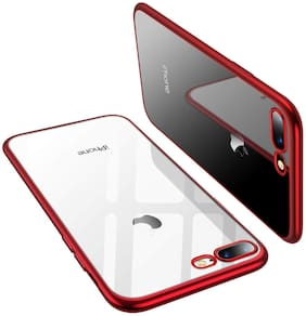 EXOTIC FLOURISH Silicone Back Cover For Apple iPhone 7 Plus & Apple iPhone 8 Plus ( Red )