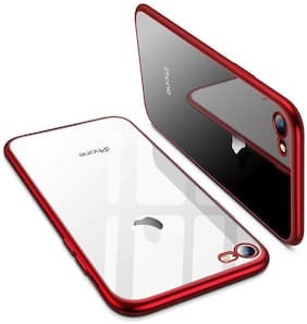 EXOTIC FLOURISH Silicone Back Cover For Apple iPhone 7 & Apple iPhone 8 ( Red )