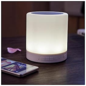 Crystal Digital Touch Lamp Bluetooth   Speaker Extreme Bass Portable  Audio Player Design For All Smartphones