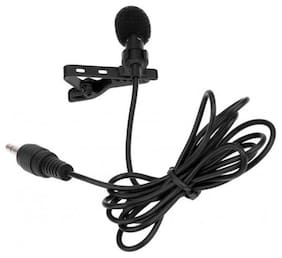 Crystal Digital Portable Microphone 3.5mm Jack Clip on Lapel Collar Mini Lavalier Microphone Mic for iPhone Mobile Phone Black