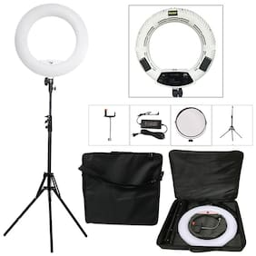 Crystal Digital 14 inches  Ring Fill Selfie Led Light Studio Camera Ring Light Photo Phone Video Light Lamp with  Tripods Stand (Black)