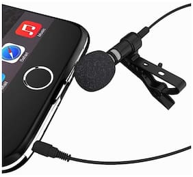 Crystal Digital Microphone Hands Free Mini Clip On Lapel Mic With 3.5mm Jack For Cameras Recorders, Compatible With All Smartphones