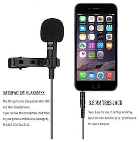 Crystal Digital Collar Mic for iPhone Android Smartphones Recording/Video Conference/Studio/Interview/Youtube/Podcast/Voice Dictation/3.5mm Lapel Mic