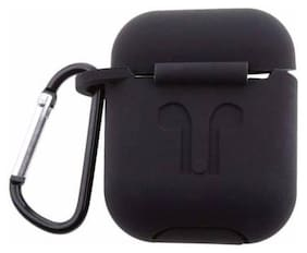 Crystal Digital AirPods Soft Silicone Cover With Dust Plug Carabiner