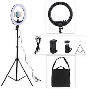 Crystal Digital 14 inches  Selfie Ring Fill LED Light with  Tripod Stand